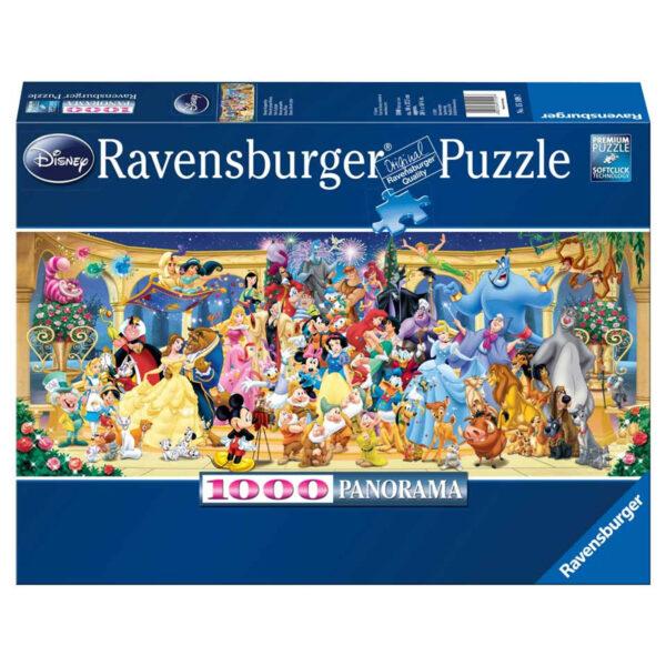 Disney groepsfoto panorama , puzzel 1000 stukjes